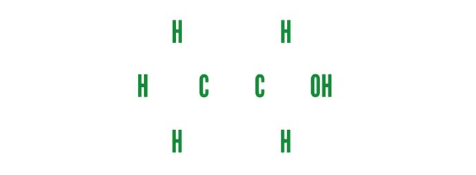 Alkohol-Molekül